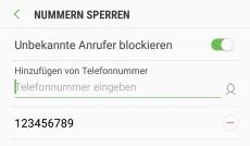 Android Kontakt entblocken